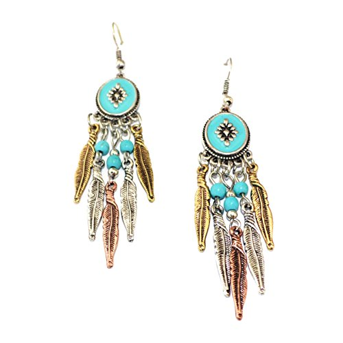 Boosic Vintage Bohemian Turquoise Earrings