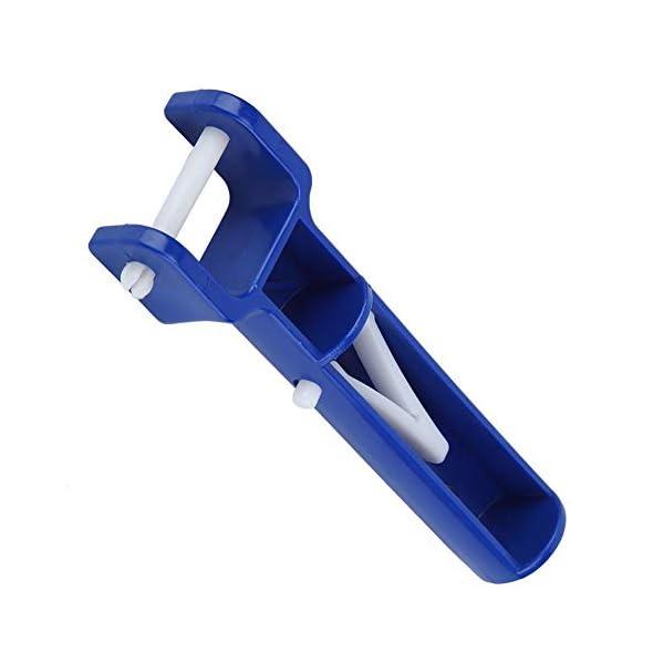 Mumusuki Piscina V Shape Clip Brush Head Handle Accessori per la Piscina di Ricambio Strumenti di Pulizia Blue 2Pcs 5 spesavip