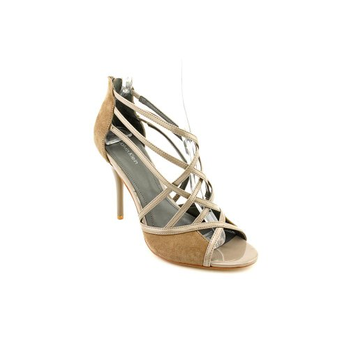Calvin Klein Women's Sirey Strappy Evening Sandals in Mink Size 9.5