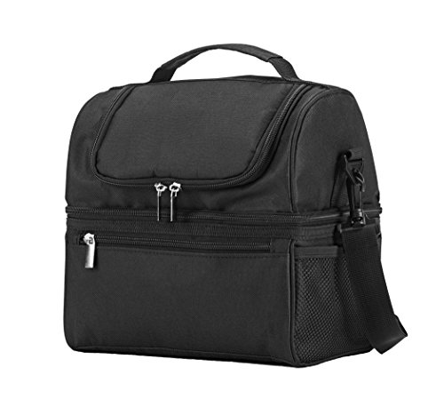 Insulated Cooler Lunch Bags for Men,Women,Leakproof Work Lunch Box,Large Picnic Storaging,Double Decker