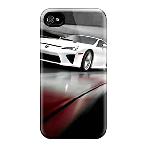 Fashion Tpu Case For Iphone 4/4s- Lexus Lfa Defender Case Cover