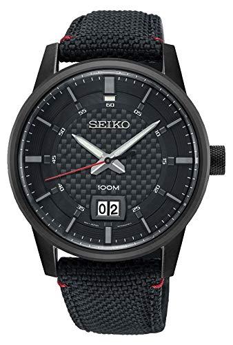 Seiko Reloj Analogico para Hombre de Cuarzo con Correa en Nailon SUR271P1: Amazon.es: Relojes