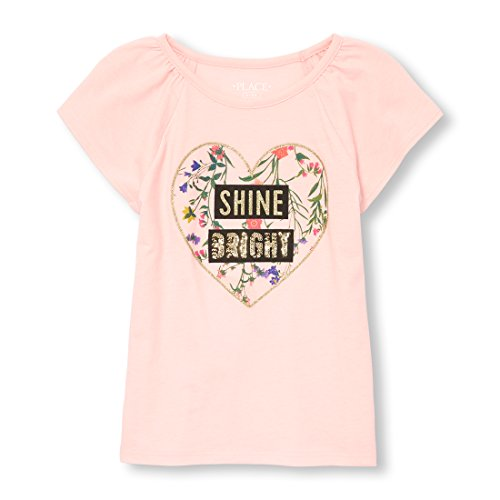 The Children's Place Big Girls' Short Sleeve Fashion Top, Sweet Nothing 6619, L (10/12) by The Children's Place