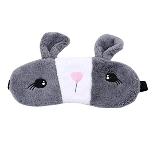 LZIYAN Sleep Eye Mask Lovely Cartoon Rabbit Eye Mask Portable Eyepatch Cute Blocks Out Light Blindfold For Home Travel,Gray by LZIYAN (Image #1)