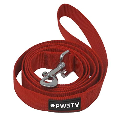 The Pawsitive Co. PWSTV Dog Leash Buy a Leash. Feed a Dog. Durable Nylon Puppy and Dog Leashes – 6ft (180cm) – Red