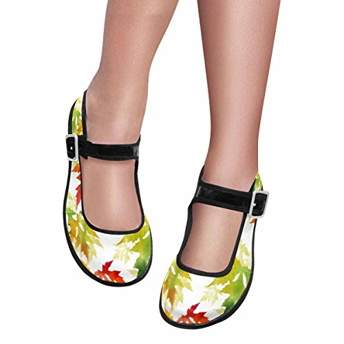 InterestPrint Womens Comfort Mary Jane Flats Casual Walking Shoes Multi 14 7tkrHYGr