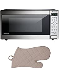 Panasonic Stainless Microwave (1250 Watts/Inverter Technology) w/ Oven Mit