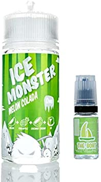 Ice Monster Melon Colado 100ml - 70vg 30pg + E Liquid The Boat 10 ml lima limon - Pack de 2 unidades para cigarrillo electrónico.: Amazon.es: Salud y cuidado personal