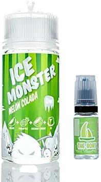 Ice Monster Melon Colado 100ml - 70vg 30pg + E Liquid The Boat 10 ml lima limon - Pack de 2 unidades para cigarrillo electrónico.: Amazon.es: Salud y cuidado personal
