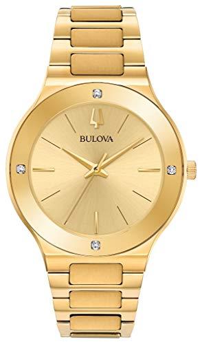 (Men's Bulova Futuro Gold-Tone Diamond Accent Watch)