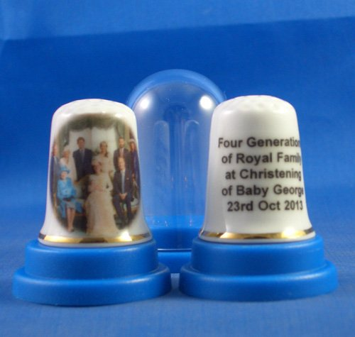 Porcelain China Thimble - Four Generations of The Royal Family Birchcroft China