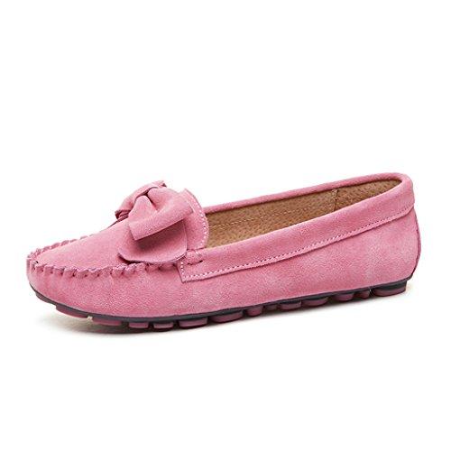 Farbe Flache 36 Schuhe Damenschuhe Schuhe Schwangere HWF Frühling Schuhe Peas größe Schuhe Frauen Pink Frauen Ein Faule Frau Pedal UwpUX