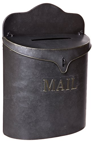 (Red Co. Vintage Metal Canister Mail Box, Wall Mounted Lockable Post Mailbox Storage, 15-inch)