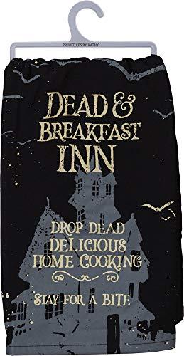 Primitives by Kathy Halloween Dish Towel, 28 x 28-Inch, Dead & Breakfast]()
