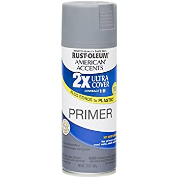 Rust Oleum 280704 American Accents Ultra Cover 2X Spray Paint,  Gray Primer, 12-Ounce