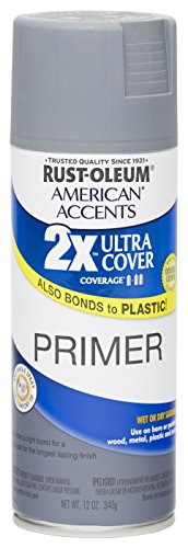 Rust Oleum 280704 American Accents Ultra Cover 2X Spray Paint,  Gray Primer, 12-Ounce ()
