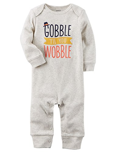 Carter's Baby Gobble 'Til You Wobble Jumpsuit 6 (Thanksgiving Outfit Baby)