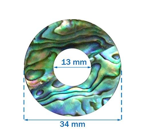 Bruce Wei Green Abalone Toggle Switch Plate - Abalone Toggle
