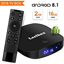 Android 8.1 TV Box, [2018 Edition] Leelbox Q2 PRO S Quad core 2GB+16GB 2.4GHz WiFi Supporting 4K (60Hz) Full HD