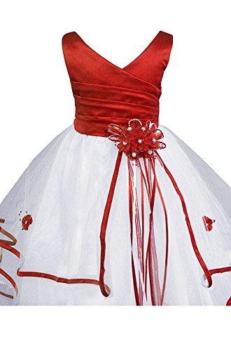 Inc AMJ Wedding Girl Little Dress Pageant Dresses Flower Communion Easter Red Girls' 11r5wq