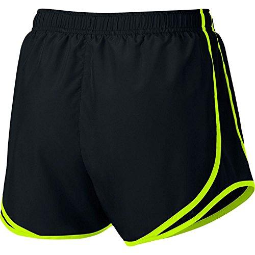 Damen Nike Dry Tempo Running Short Schwarz / Schwarz / Volt