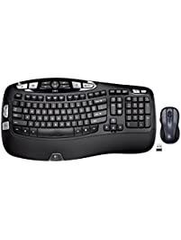 Logitech MK550 Wireless Wave Keyboard and Mouse Combo - Includes Keyboard and Mouse, Long Battery Life, Ergonomic Wave...