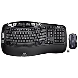 Logitech Mk550 Wireless Wave Keyboard & Mouse Combo — Includes Keyboard & Mouse, Long Battery Life, Ergonomic Wave Design