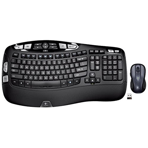 - Logitech MK550 Wireless Wave Keyboard and Mouse Combo — Includes Keyboard and Mouse, Long Battery Life, Ergonomic Wave Design