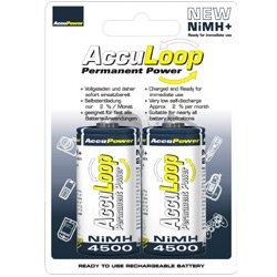 AccuPower AL4500-2 Ni-MH C/Baby/LR14 Akku (4500mAh, 2-er Pack)