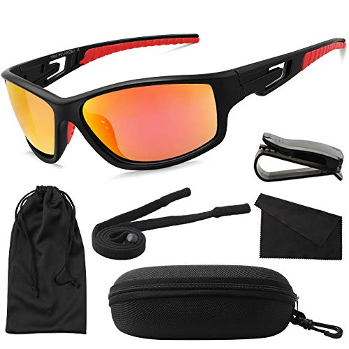 MAXJULI Polarized Sports Sunglasses for Men Women Tr90 Frame for Running Fishing Baseball Driving ()