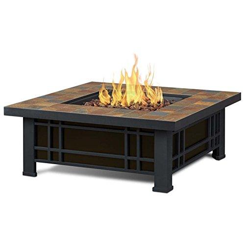 (Real Flame 906LP-NST 906LP Morrison Propane Fire Pit, Black)