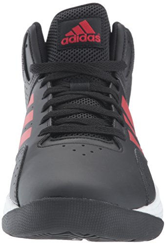 adidas Männer CF Ilation Mid Basketballschuh Schwarz / Scarlet / Utility Schwarz