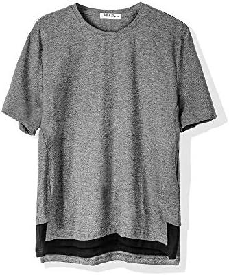 Tシャツ メンズ 半袖 カットソー 無地 ゆったり おおきいサイズ ロング丈 薄手 ポリエステル 涼しい 丸首 カジュアル
