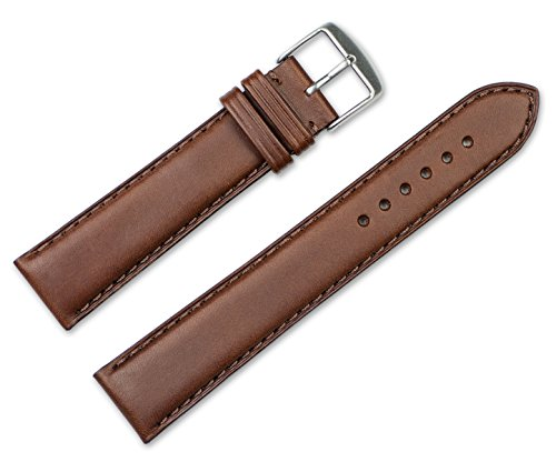 22mm Replacement Leather Watch Band - Full Oil Leather - Dark Brown Watch Strap Brown Pebble Oil