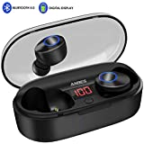 Wireless Earbuds, ANBES Bluetooth Headphones 5.0 LED Display Mini True Bluetooth Earbuds, 16H Playtime 3D Stereo Headset with Microphone, IPX5 Waterproof in-Ear Wireless Headphones with Charging Case