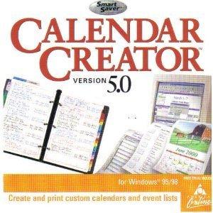 amazon com calendar creator 5 0 jewel case