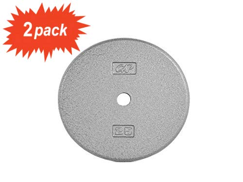 25-Pound in Gray CAP Barbell* Standard Free Weight Plate Set of 2 1-Inch Standard Bars