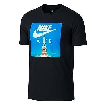 7b65dbbf626c Nike Sportswear Air 1 Men's Athletic Casual Fashion T-Shirt Black  892155-010 (