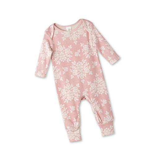 Newborn Girl Pink Orchid Coming Home Outfits Baby Girl Long Sleeve Floral Bodysuit (3-6 Months) (Ship Free Orchids)