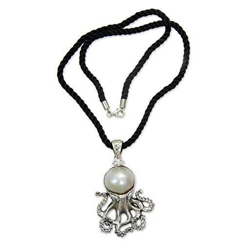NOVICA White Cultured Mabe Pearl .925 Sterling Silver Necklace, 18