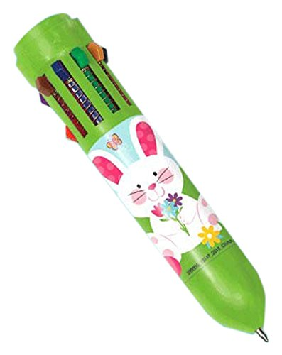 Egg-stra Special Easter Party 10-Color Bunny Pen Favour, Plastic, 3