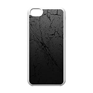 iPhone 5C Case,Cracked Earth Texture Hard Shell Back Case for White iPhone 5C Okaycosama387103