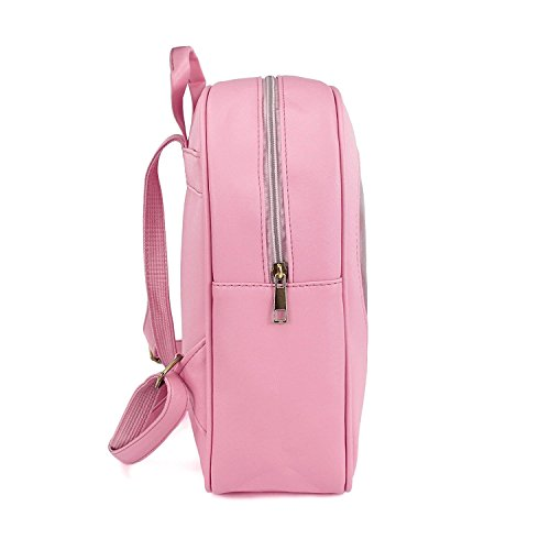 Girls Kawaii Bling Transparent Love Star School Bag Backpack (Pink) by XSCOMSPORT (Image #2)