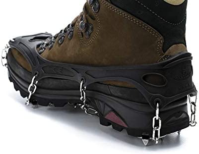 Hillsound FreeSteps6 - Ice Traction Cleats/Crampons, 21 Stainless Steel Spikes, 2 Year Warranty