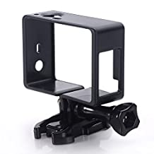 Nechkitter Frame Mount for GoPro Hero 4, 3+, and 3 Light and Compact Housing All Slots Fully Accessible - a Large Thumbscrew ,Quick release mount Include