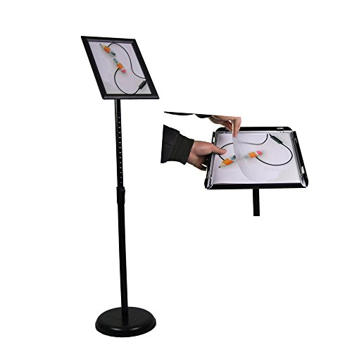 FFsign pedestal poster stand sign stand display stand holder with base,floor standing (8.5x11 Black) (Floor Standing Sign Holder)