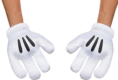 Mickey Mouse Costumes For Adult (Disguise Costumes Mickey Mouse Gloves, Adult)