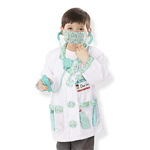 Melissa & Doug Doctor Role Play Costume Dress-Up Set (7 -