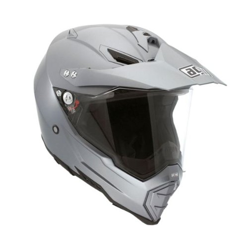 AGV AX-8 EVO Solid Helmet , Size: 3XL, Distinct Name: Titanium Gray, Helmet Type: Full-face Helmets, Helmet Category: Street, Gender: Mens/Unisex, Primary Color: Gray 7611O4C0003012