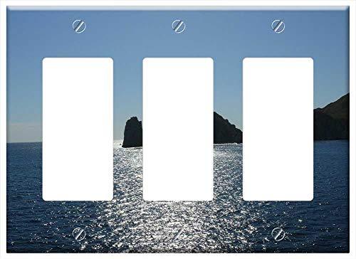 Switch Plate Triple Rocker/GFCI - Cabo San Lucas Mexico Ocean Water Rocks Sea Rock 1
